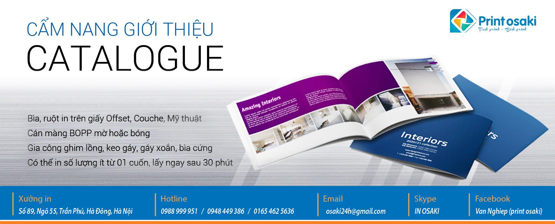Catalogue - in catalogue giá rẻ lấy nhanh ở đâu hà đông