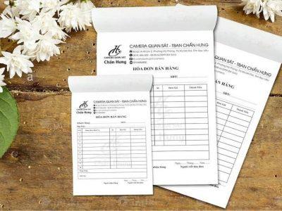 In hóa đơn bán hàng, in hóa đơn cacbon giá rẻ tại Hà Nội